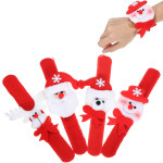 Christmas Decoration Pat Circle Hand Ring Snowman Slap Bracelet Gifts Women Jewelry
