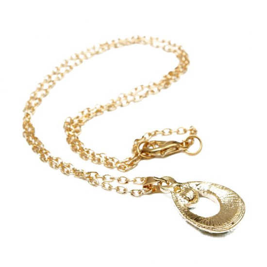 Colorful Rhinestone Angel Tear Drop Pendant Necklace For Women 2021