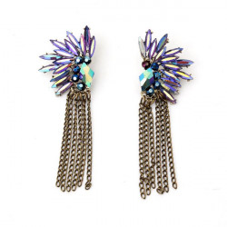 Crystal Angel Wings Feathered Stud Earrings For Women