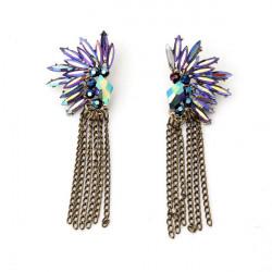 Crystal Angel Wings Feathered Stud Earrings For Women