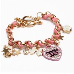 Crystal Love Heart Poker Butterfly Leather Rope Bracelet For Women