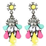 Crystal Rhinestone Resin Drop Dangle Earrings Women Jewelry Women Jewelry