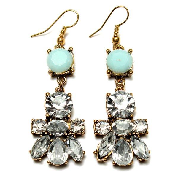 Crystal Water Drop Irregular Geometric Flower Earrings For Women Women Jewelry