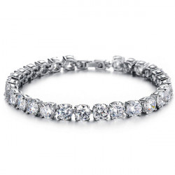 Cubic Zirconia Diamond Bride Bracelet Wedding Jewelry