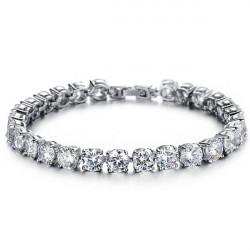 Cubic Zirconia Diamond Bride Bracelet Wedding Jewelry