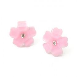 Cute Clover Flower Crystal Stud Earrings For Women