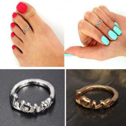 Cute Gold Silver LOVE Letter Toe Ring For Women Foot Beach Jewelry