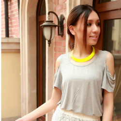 Fashion Gothic Punk Rock Alloy Candy Color Collar Choker Necklace