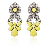 Flower Waterdrop Earrings Rhinestone Ear Stud For Women Women Jewelry