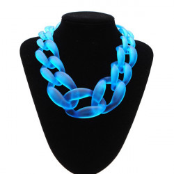 Frosted Acrylic Statement Necklace Chunky Chain Choker For Women