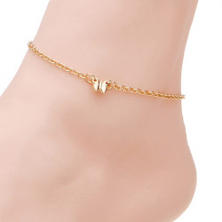 Gold Plated Butterfly Charm Alloy Anklet Chain Women Jewelry