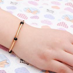 Gold Plated Crystal Rhinestone Beads Chain Bracelet Women Jewelry