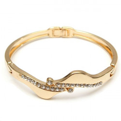 Gold Plated Filled Crystal Link Bracelet Bangle Women Jewelry