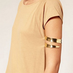 Gold Silver Cuff Upper Arm Bracelet Bangle For Women