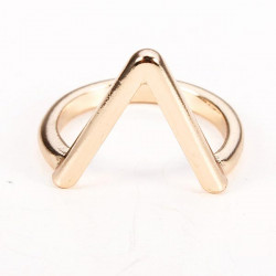 Gold Silver Plated V Shape Arrow Shape Knuckle Finger Ring