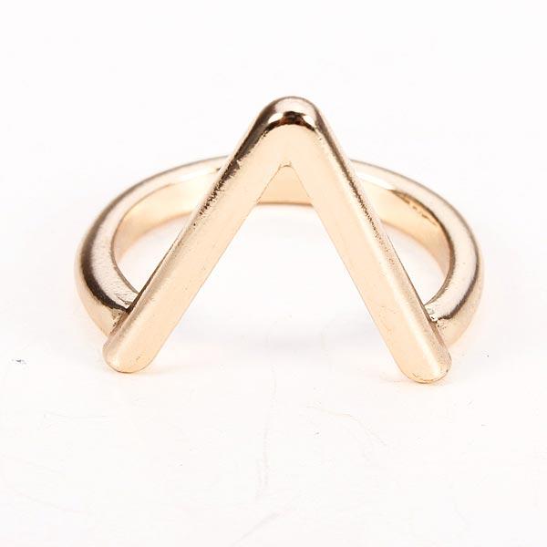 Gold Silver Plated V Shape Arrow Shape Knuckle Finger Ring Women Jewelry