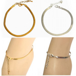 Gold Silver Snake Chain Anklet Charm Foot Bracelet Jewelry