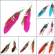 Indian Leather Hen Feather Dangle Bead Ear Drop Earrings Party 2021