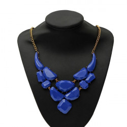 Irregular Stone Pendant Statement Necklace For Women
