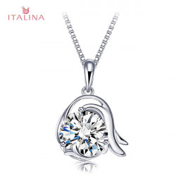 Italina 925 Sterling Sliver Crystal Pendant Necklace 12 Constellations