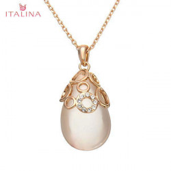 Italina Austiran Crystal Water Drop Opal Pendant Necklace