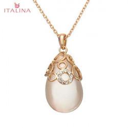 Italina Austiran Crystal Water Drop Opal Pendant Necklace