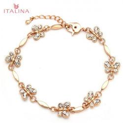 Italina Austrian Crystal Butterfly Bracelet 18K Rose Gold Plated