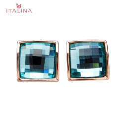 Italina Austrian Crystal Square Stud Earrings For Women