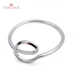 Italina Gold Silver Letter E Knuckle Pinky Finger Ring For Women