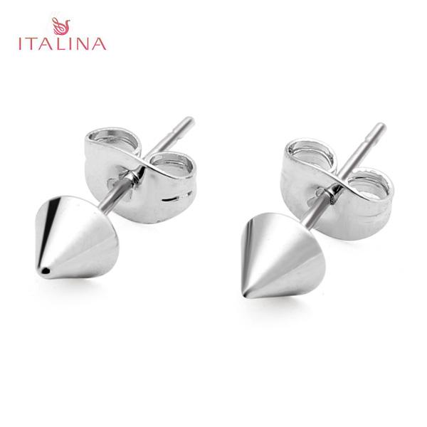 Italina Punk Gold Silver Metal Rivet Stud Earrings Women Jewelry Women Jewelry