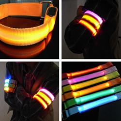 LED Armband Safety Reflective Belt Strap Snap Wrap Bracelet Flashing