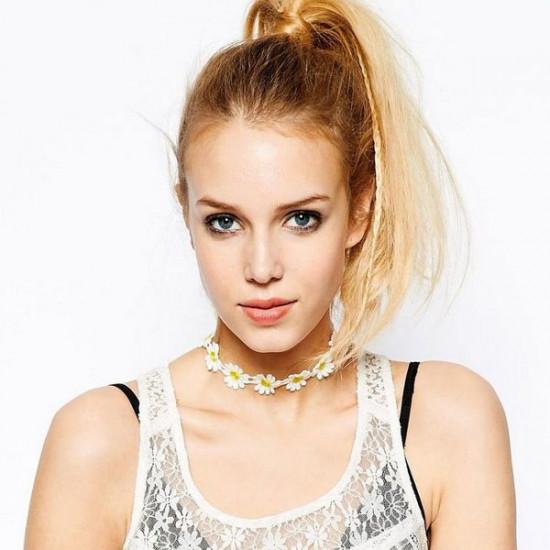 Lace Daisy Flower Chain Tattoo Choker Necklace Bracelet For Women 2021