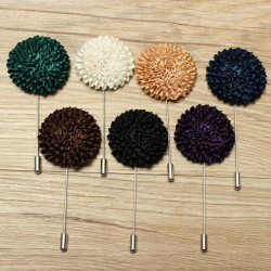 Lapel Flower Fabric Brooch Bouquet Stick Pin Men Accessories