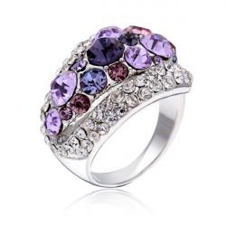 Luxury Austrian Crystal Rhinestone Finger Ring For Women