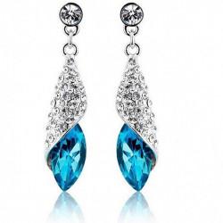 Luxury Rhinestone Crystal Tear Drop Earrings Women Jewelry