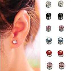 Multicolor Crystal Rhinestone Earring Magnet Stud Earring Unisex