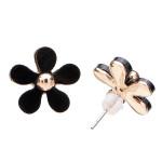 Multicolor Five Leaves Daisy Flower Acrylic Beads Ear Stud Earrings