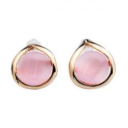 Multicolor Lovely Opal Gold Plated Ear Stud Earrings For Women