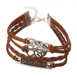 Multilayer Love Infinite Symbols Bracelet Leather Woven Bracelets