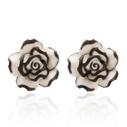 Multilayers Rose Earring Vintage Flower Ear Stud For Women