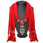 Owl Pendant Tassel Scarf Necklace Women Jewelry Autumn Winter Women Jewelry