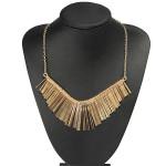 Punk Gold Metal Multilayer Tassels Chain Choker Collar Necklace Women Jewelry