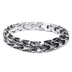Punk Snake Shaped 316L Stainless Steel Bracelet Mens Jewelry