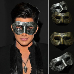 Retro Men Roman Gladiator Eye Mask Venetian Masquerade Mask