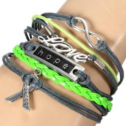 Retro Multilayer LOVE Tree Infinity Hope Leather Bracelet