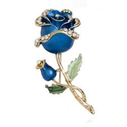 Rhinestone Crystal Rose Flower Wedding Bridal Pin Brooch