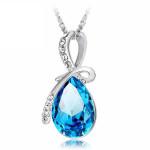 Rhinestone Crystal Water Drop Pendant Necklace For Women Women Jewelry
