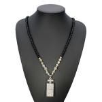 Rhinestone Perfume Bottle Shape Beads Chain Pendant Necklace For Women Women Jewelry