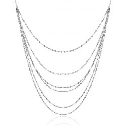Silver Plated Multi Layer Pendant Tassel Long Sweater Chain Necklace