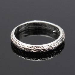 Silver Tone Matt Frosted Alloy Finger Ring Women Jewelry